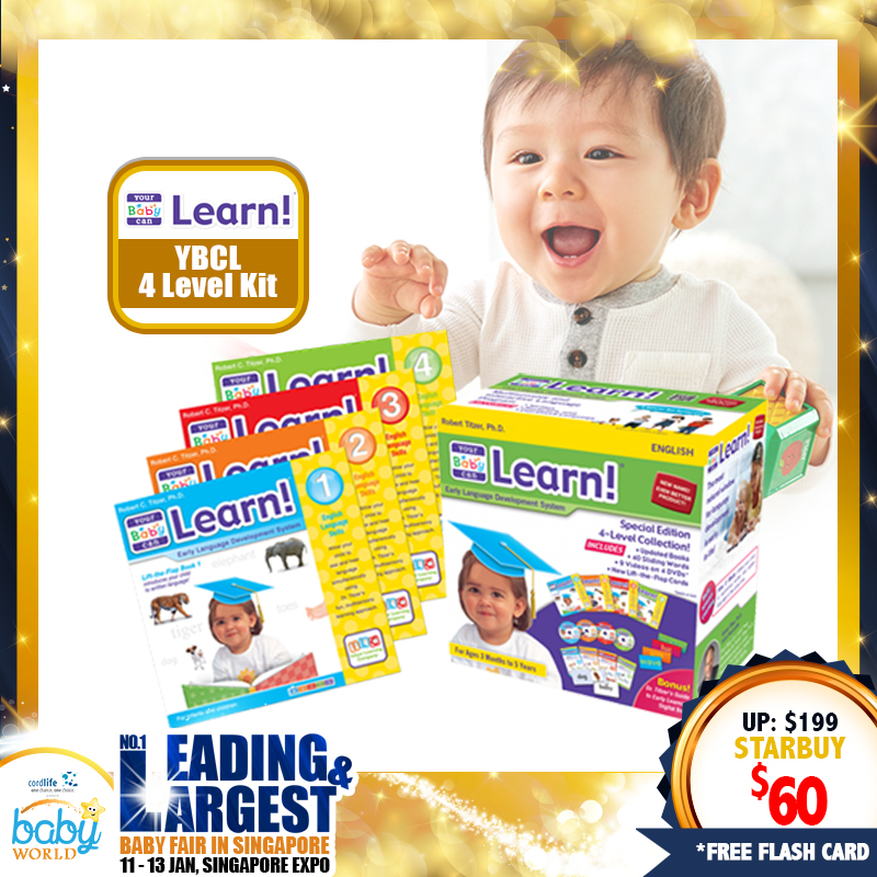 ILC Your Baby Can Learn - 4 level Kit!! ALMOST 70% OFF!! *ADDITIONAL FREE Gift for EARLY BIRD SPECIAL