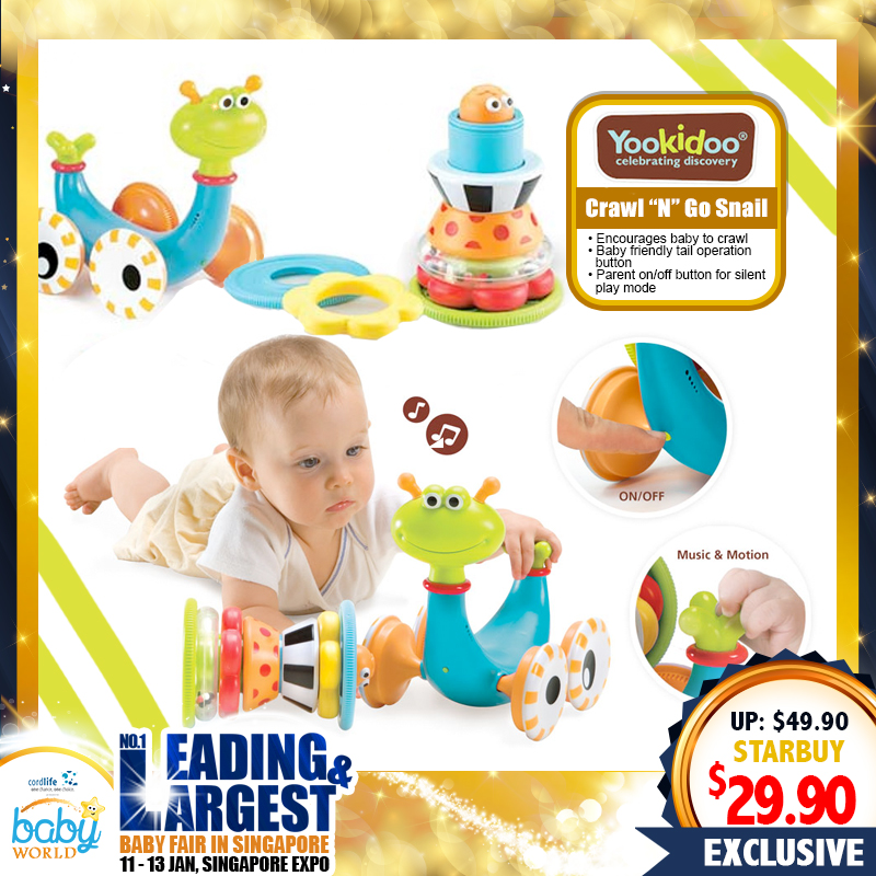 Yookidoo Crawl N Go Snail 2 in 1 Toy