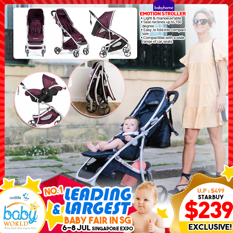 Babyhome Emotion Stroller (Extra Discount for Carseat, Bumprider Stand on Board and more)
