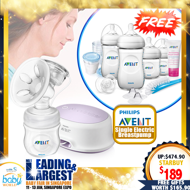 Philips Avent Single Electric Breastpump Value Pack + Free Gifts worth $165.90
