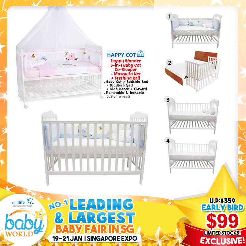 Happy Wonder 5 in 1 Baby Co-Sl