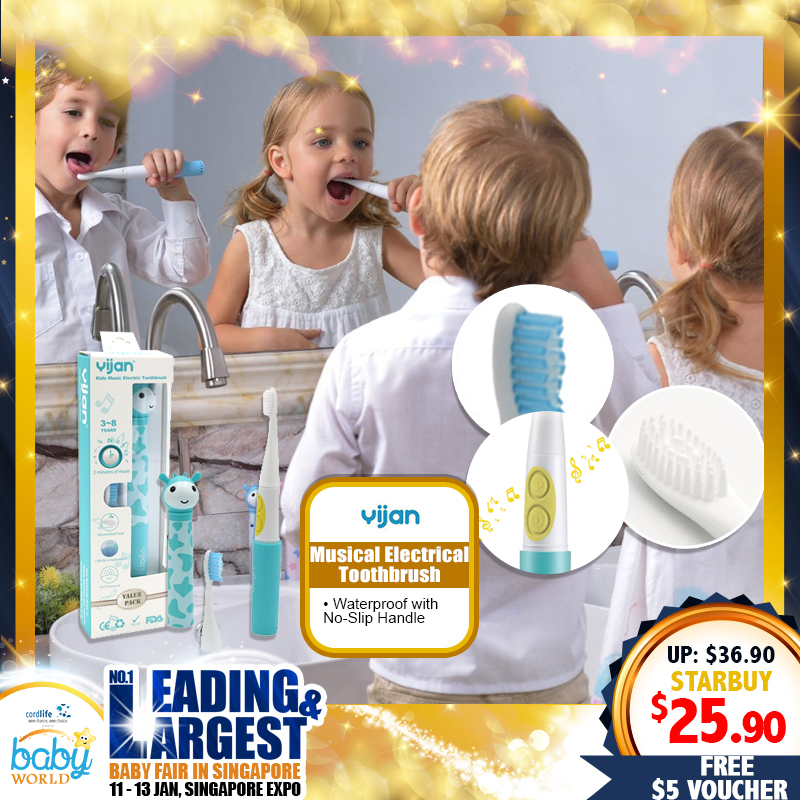 Yijan Musical Electrical Toothbrush FREE $5 Online Voucher