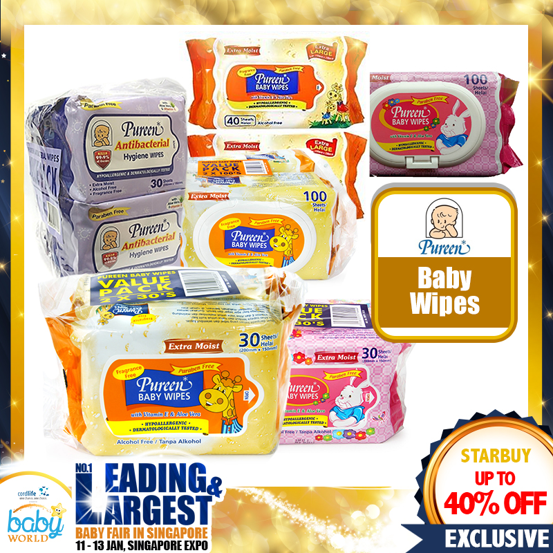 Pureen Baby/Hygiene Wipes UP TO 40 PERCENT OFF!!