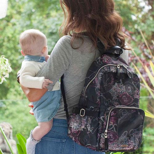 Storksak Hero Diaper Backpack Bag - Floral FREE Cambrass Stroller Hook
