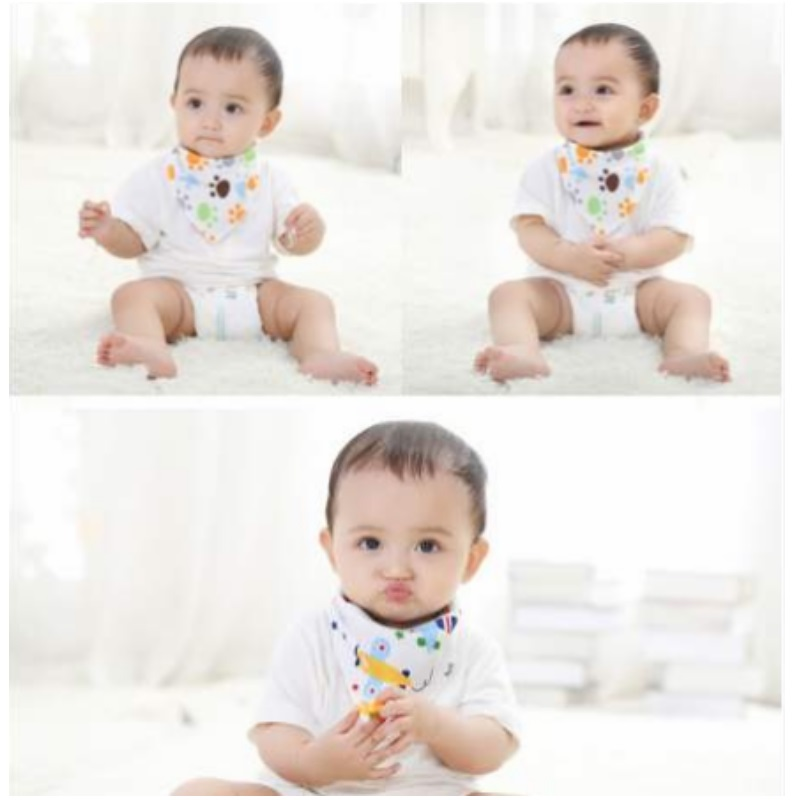 Baby Gallery Triangle Bibs 100 Percent Cotton (3pcs/pack)