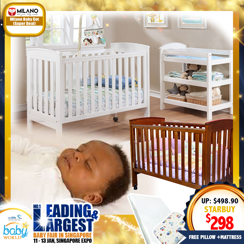 Milano Classic Baby Cot Super Deal + Free Gifts!!