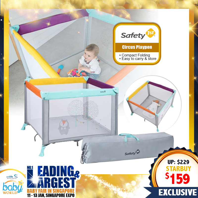 Safety 1st CIRCUS Playpen and Travel Cot