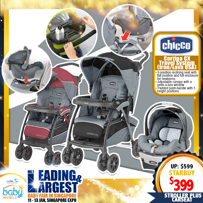 Chicco Cortina CX Travel System (Stroller + Carseat)
