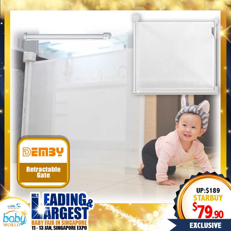 Demby Retractable Baby Safety Gate