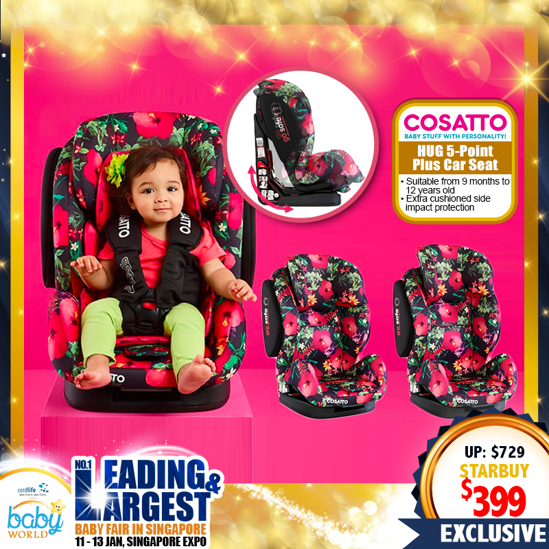 Cosatto Hug 5-point plus Carseat (45 Percent OFF!!)