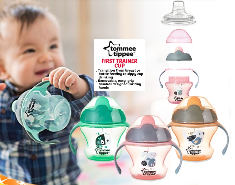 Tommee Tippee First Trainer Cup (3 Colors Available - PINK / GREEN / ORANGE)