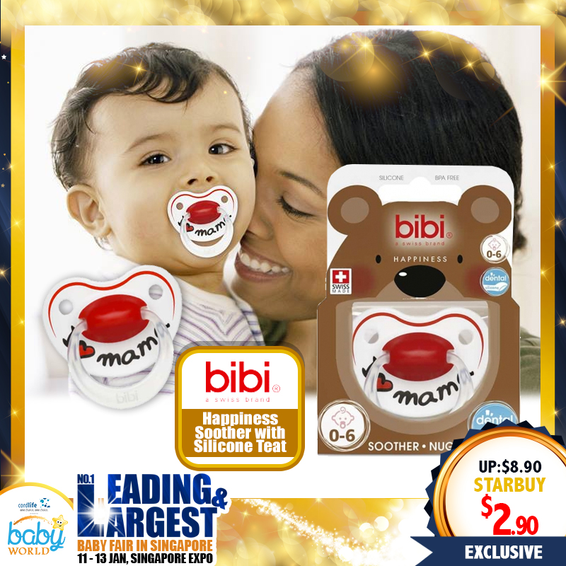 Bibi Silicone Soother Happiness (Pacifier) - Dental Friendly