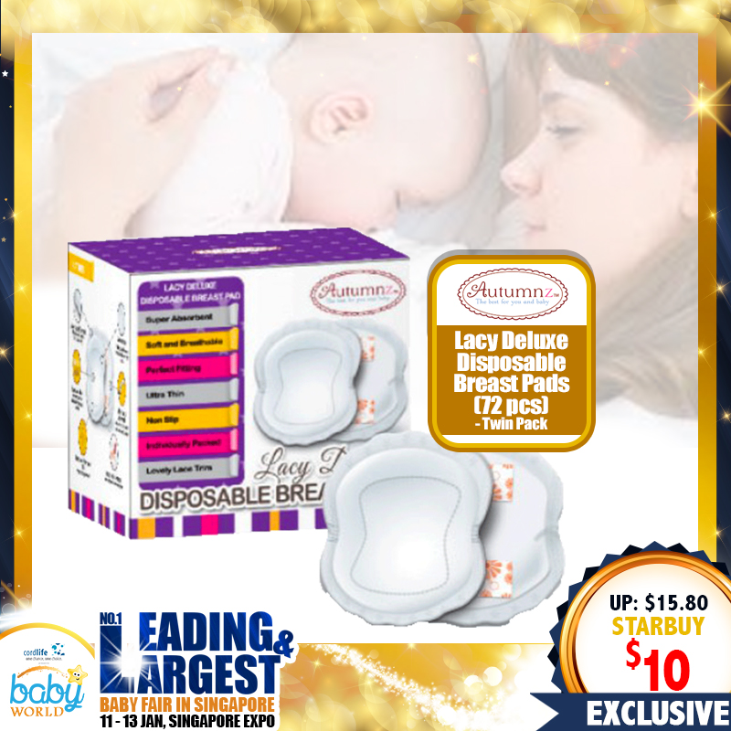 Autumnz - *TWIN PACK* Lacy Deluxe Disposable Breastpads (36pcs/box)