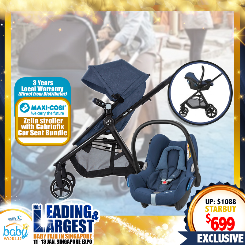 Maxi Cosi Zelia Stroller + Cabriofix Carseat + Free 3 Years Local Warranty!!