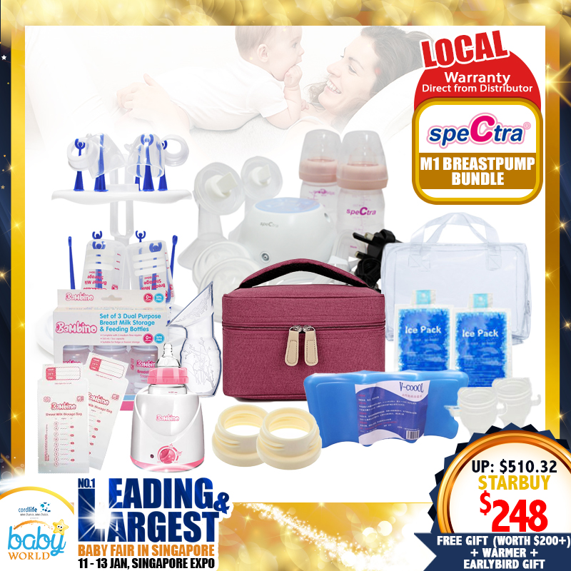 Spectra M1 Amazing Breastpump + Milk Warmer Bundle! With MANY FREE Gifts!! (From Local Distributors only!!) - (Additional Free Gift ONLY For EARLY BIRD SPECIAL*)