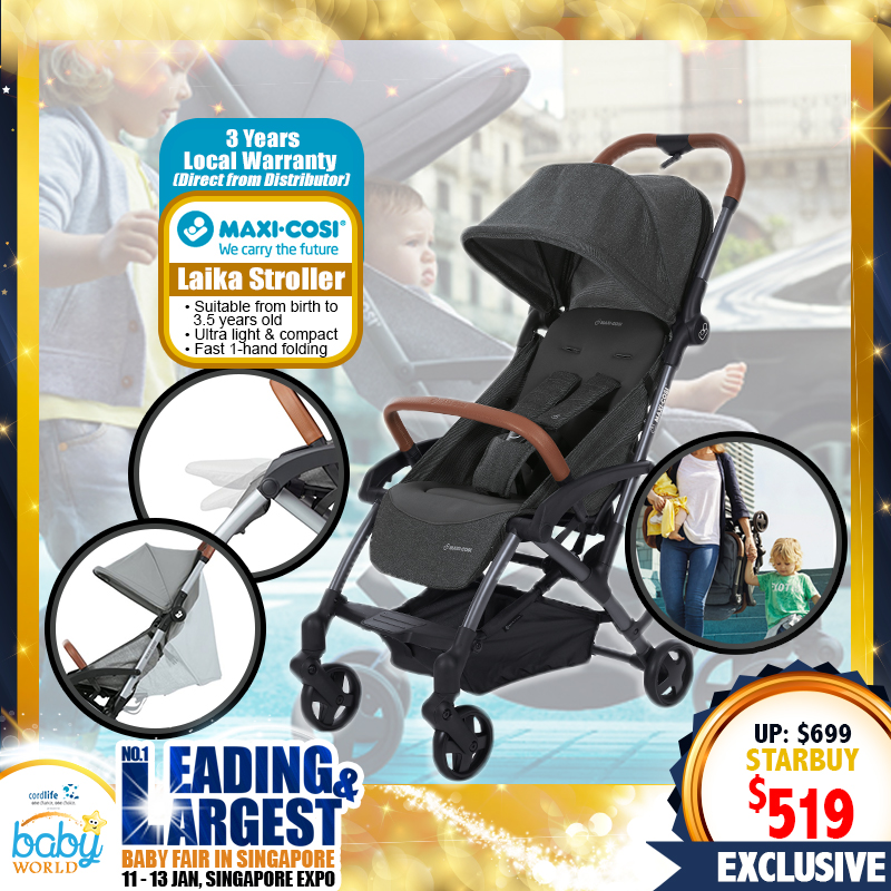 Maxi Cosi Laika Stroller + Free 3 Years Local Warranty!!