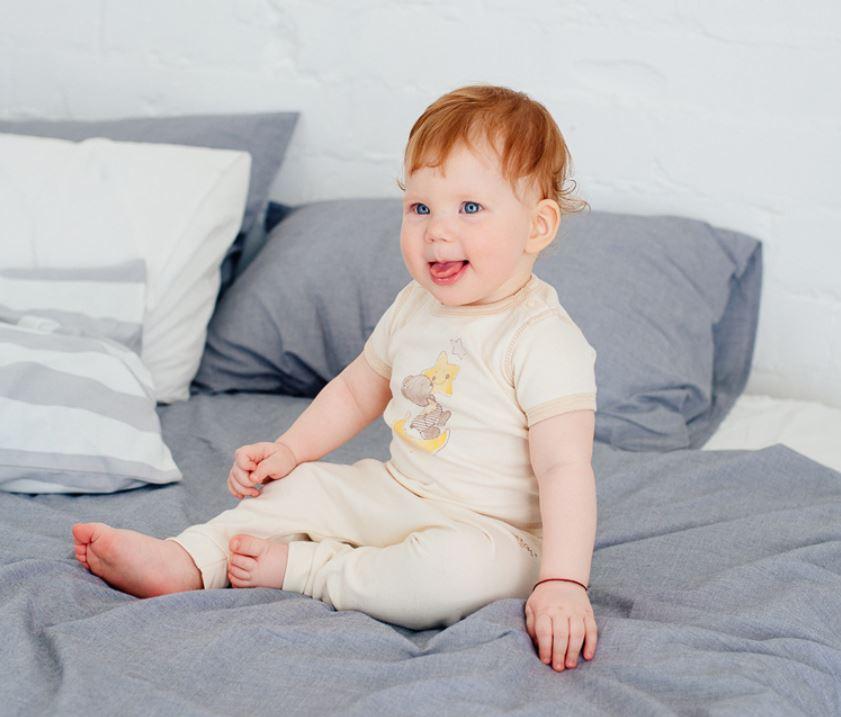 Eotton 2pc T-Shirt & Pants / Short Sleeve Romper