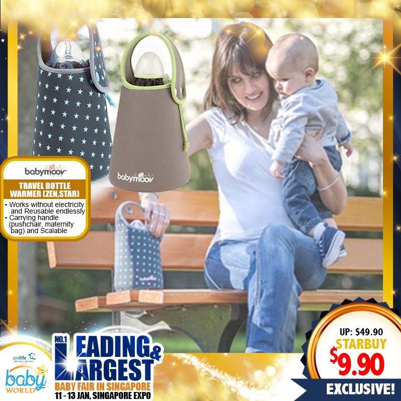 Babymoov Travel Bottle Warmer (STAR / ZEN) 80% OFF!!